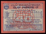 1991 Topps #183  Clay Parker  Back Thumbnail