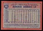 1991 Topps #65  Bruce Hurst  Back Thumbnail