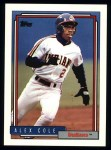 1992 Topps #170  Alex Cole  Front Thumbnail