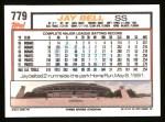1992 Topps #779  Jay Bell  Back Thumbnail