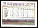 1992 Topps #702  Lee Stevens  Back Thumbnail