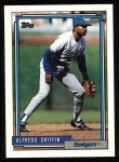 1992 Topps #418  Alfredo Griffin  Front Thumbnail