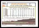 1992 Topps #303  Dan Plesac  Back Thumbnail