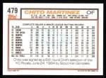 1992 Topps #479  Chito Martinez  Back Thumbnail