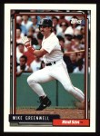 1992 Topps #113  Mike Greenwell  Front Thumbnail