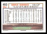 1992 Topps #463  Mike Simms  Back Thumbnail