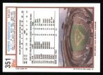 1992 Topps #351  Greg Riddoch  Back Thumbnail