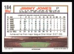 1992 Topps #184  Jimmy Jones  Back Thumbnail