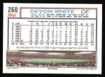 1992 Topps #260  Devon White  Back Thumbnail