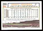1992 Topps #265  Teddy Higuera  Back Thumbnail