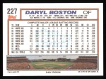 1992 Topps #227  Daryl Boston  Back Thumbnail
