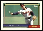 1992 Topps #731  Donnie Hill  Front Thumbnail