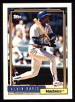 1992 Topps #130  Alvin Davis  Front Thumbnail
