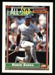 1992 Topps #403   -  Ruben Sierra All-Star Front Thumbnail