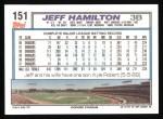 1992 Topps #151  Jeff Hamilton  Back Thumbnail