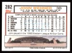 1992 Topps #282  John Wehner  Back Thumbnail