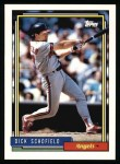 1992 Topps #230  Dick Schofield  Front Thumbnail