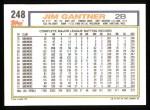 1992 Topps #248  Jim Gantner  Back Thumbnail