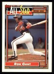 1992 Topps #391   -  Ron Gant All-Star Front Thumbnail