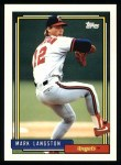 1992 Topps #165  Mark Langston  Front Thumbnail