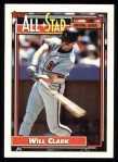 1992 Topps #386   -  Will Clark All-Star Front Thumbnail