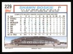 1992 Topps #229  Shawn Boskie  Back Thumbnail