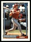 1992 Topps #244  Darren Daulton  Front Thumbnail