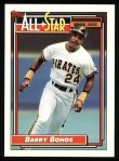 1992 Topps #390   -  Barry Bonds All-Star Front Thumbnail