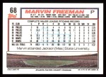 1992 Topps #68  Marvin Freeman  Back Thumbnail