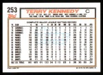 1992 Topps #253  Terry Kennedy  Back Thumbnail
