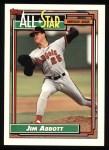 1992 Topps #406   -  Jim Abbott All-Star Front Thumbnail