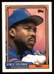 1992 Topps #500  Vince Coleman  Front Thumbnail