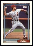 1992 Topps #383  Dave Hollins  Front Thumbnail
