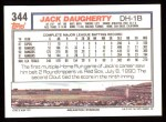 1992 Topps #344  Jack Daugherty  Back Thumbnail
