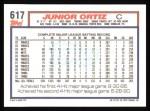 1992 Topps #617  Junior Ortiz  Back Thumbnail