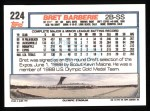 1992 Topps #224  Bret Barberie  Back Thumbnail