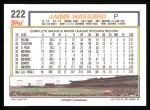 1992 Topps #222  Jaime Navarro  Back Thumbnail