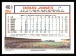 1992 Topps #461  Doug Jones  Back Thumbnail