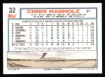 1992 Topps #32  Chris Nabholz  Back Thumbnail