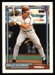 1992 Topps #434  Wally Backman  Front Thumbnail