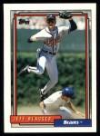 1992 Topps #199  Jeff Blauser  Front Thumbnail