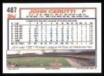 1992 Topps #487  John Cerutti  Back Thumbnail