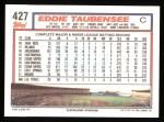 1992 Topps #427  Eddie Taubensee  Back Thumbnail