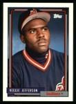 1992 Topps #93  Reggie Jefferson  Front Thumbnail