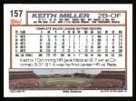 1992 Topps #157  Keith Miller  Back Thumbnail