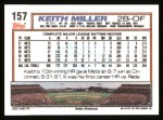 1992 Topps #157  Keith Miller  Back Thumbnail