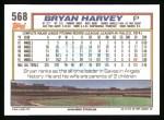 1992 Topps #568  Bryan Harvey  Back Thumbnail