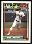 1992 Topps #401   -  Jose Canseco All-Star Front Thumbnail