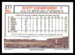 1992 Topps #277  Scott Chiamparino  Back Thumbnail