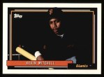 1992 Topps #180  Kevin Mitchell  Front Thumbnail